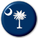 South Carolina State Flag 25mm Pin Button Badge